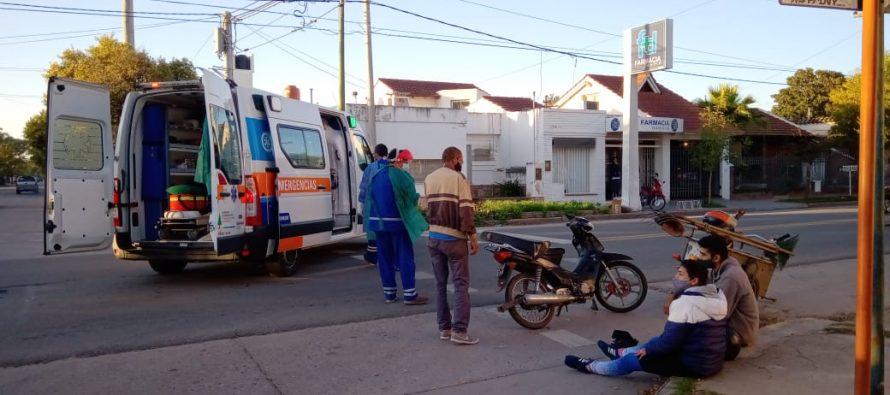 Colisión en Rivadavia y Sargento Cabral