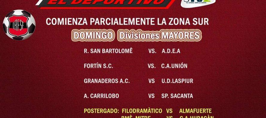 Comenzará parcialmente el domingo el fútbol de la Zona Sur. Postergaron el clásico varillense
