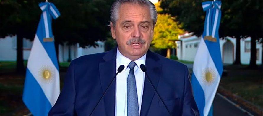 Alberto Fernández anunció la restricción en la circulación en todo el país entre las 00 y las 6 de la mañana