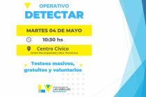 """Este martes realizan un nuevo operativo """"Detectar"""" en el Centro Cívico"""